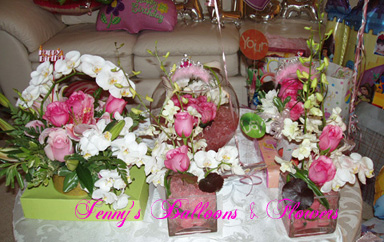 {Flower Decor from the party}