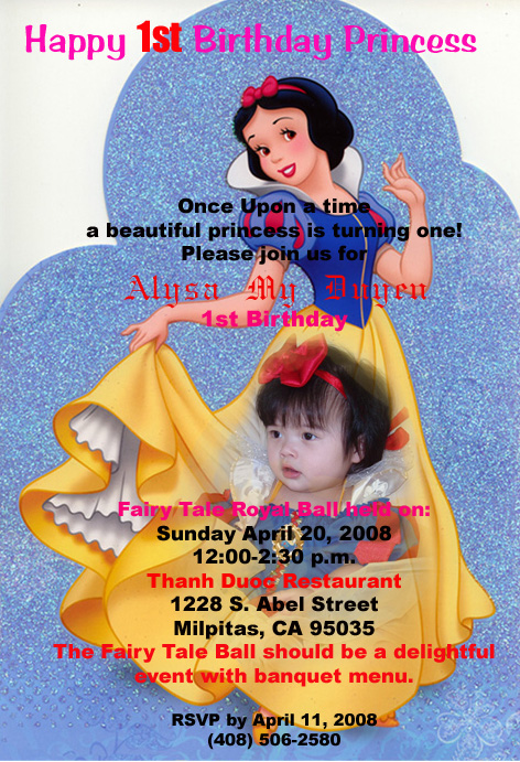 {Alysa's Birthday Invitation}